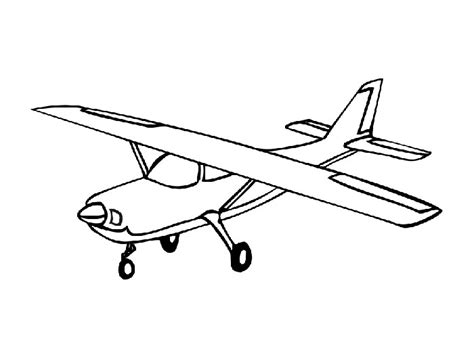 old plane free colouring pages