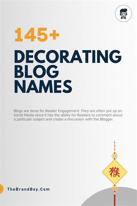 catchy   decorating blog names thebrandboy
