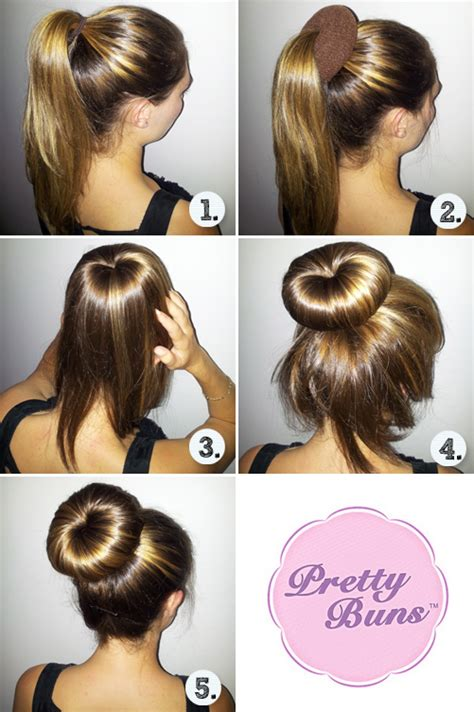 hairstyles buns step by step easy step by step hair buns style flowerfairy5