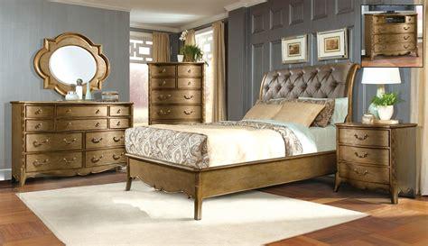 gold bedroom furniture homelegance chambord bedroom set chagne gold 1828