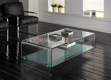 table basse en verre miroir meuble de salon lilas