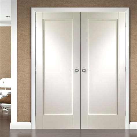 door pattern pattern 10 full panel white primed door pair