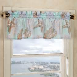 Coastal Window Curtains Coastal Style Window Valance Room Ornament