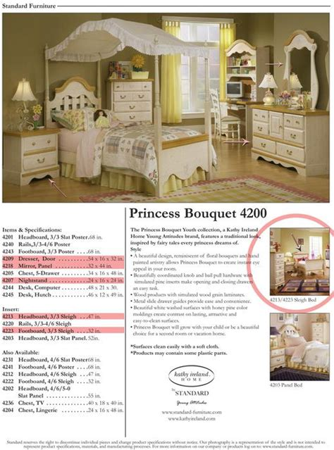 kathy ireland princess bouquet girls bedroom set north kathy ireland princess bouquet 4200 children s bedroom