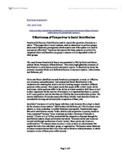 Social Stratification Essay by Social Stratification Essay Questions Dgereport803 Web Fc2