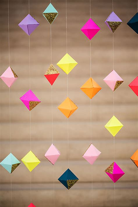 How To Make Geometric Origami - geometric origami garland pictures photos and images for