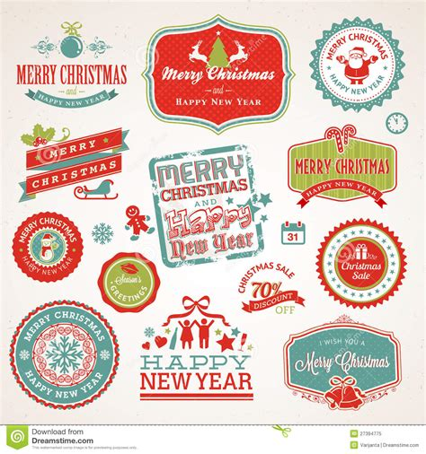 new year element sign labels and elements for and new year stock