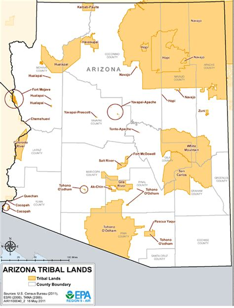 american tribes map arizona arizona tribal lands maps air quality analysis pacific