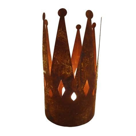 ferrum living ferrum living edelrost krone mit bodenplatte