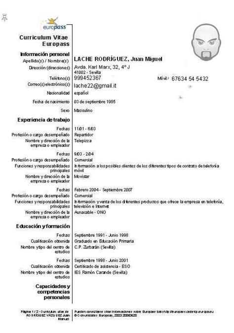 Modelo Curriculum Vitae Europeo Junta Andalucia las actividades econ 243 micas el mundo laboral el
