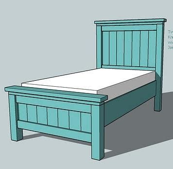 diy farmhouse bed from 2 ana white plans two crafty girls farmhouse style twin bed or as we call