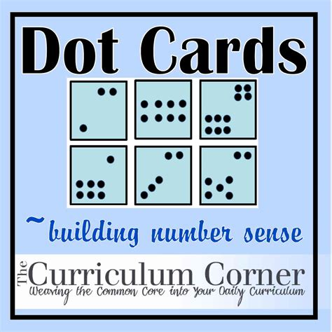 printable number and dot cards dot cards the curriculum corner 123
