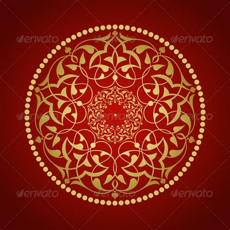 Turkish Pattern Ai | golden ottoman pattern graphicriver