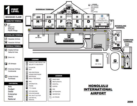 honolulu airport map hawaii23 airport shuttle