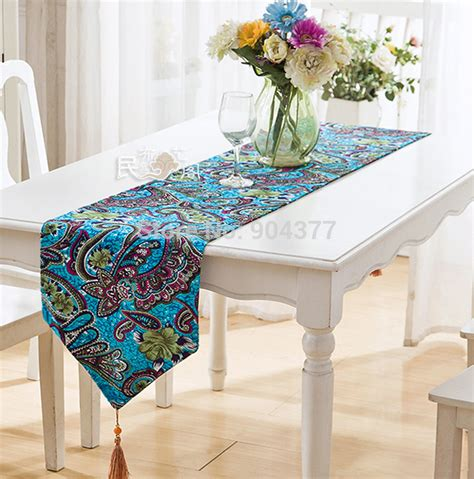 compare prices on peacock blue table runners