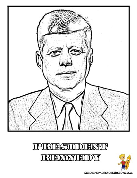 Printable Coloring Pages Of John Kennedy Coloring Pages Template Jfk