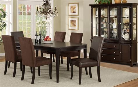 Dining Room Set Cherry Wood 7 Pieces Cherry Wood Classic Formal Dining Room Set