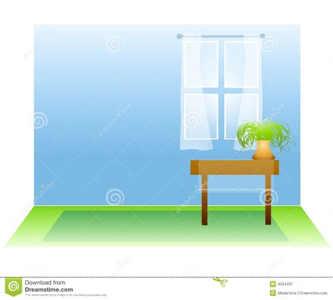 Warm Wall Colors Empty Room With Window And Plant Royalty Free Stock