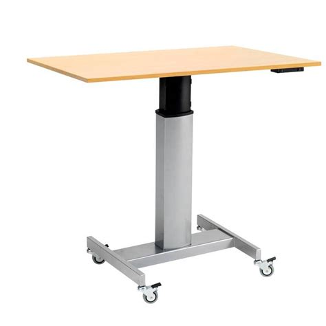 Mobile Height Adjustable Computer Desk Aj Products Adjustable Height Computer Desk Workstation