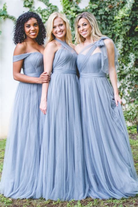 And Bridesmaid Dresses by Rosalie Convertible Dress In Tulle Bridesmaid Dresses
