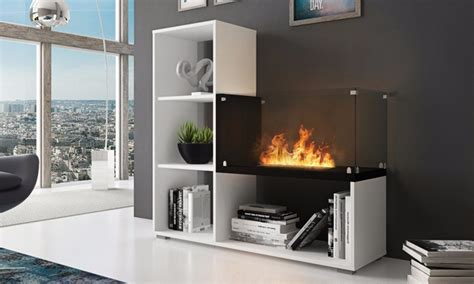 bookcase  bio ethanol fire groupon goods