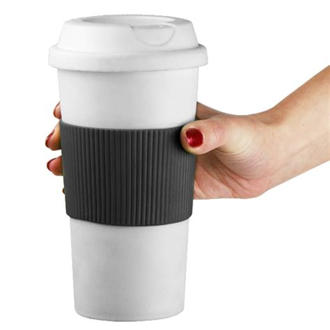 double wall plastic coffee sipper cup oz ml