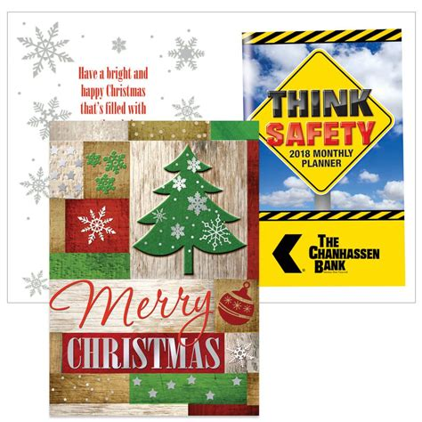 merry christmas greeting card    safety planner positive promotions