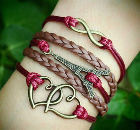 Handmade Charm - handmade bracelet infinity eiffel tower to