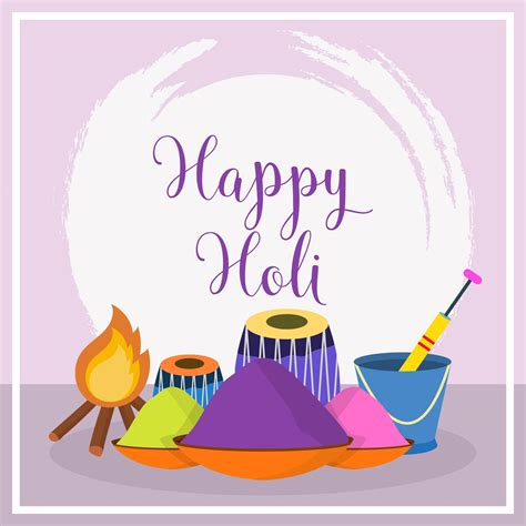 Flat Happy flat happy holi vector illustration free vector stock graphics images