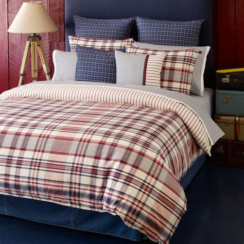 tommy comforter tommy hilfiger vintage plaid bedding collection from