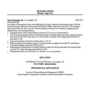 resume sample 8 hr manager resume career resumes