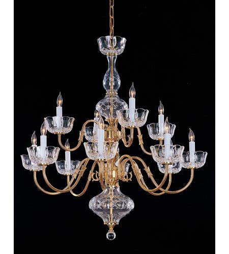 Colonial Brass Chandelier Crystorama Colonial 12 Light Chandelier In Polished Brass 4209 Pb