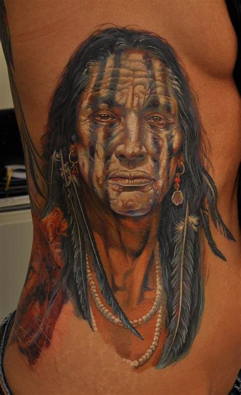 indian chief tattoo indian chief by dmitriy samohin tattoonow