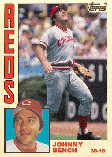 johnny bench card pin by ken hicks on vintage baseball cards pinterest