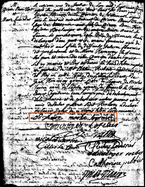 Montreal Marriage Records 1712 Marriage