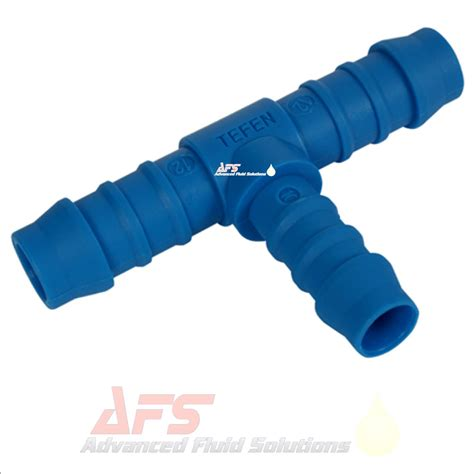 10mm x 8mm reducing t hose joiner tefen blue connector fitting