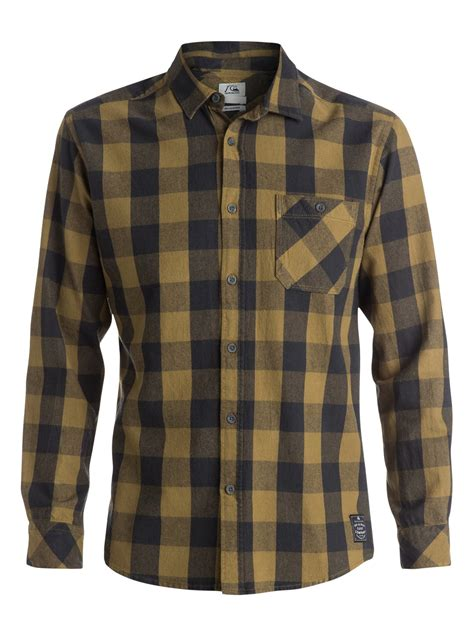 Flanel Flanello motherfly flannel sleeve modern fit shirt eqywt03175