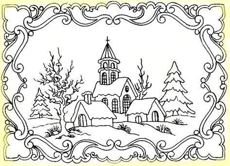 imagenes para pintar un paisaje postales con paisaje de invierno para colorear im 225 genes