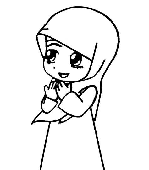 gambar kartun anak muslim perempuan animasi wanita