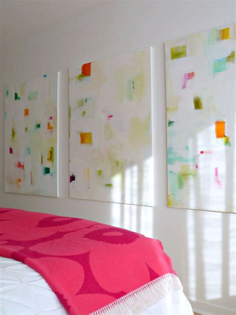 abstract bedroom art colourful diy abstracts how to make your own art dans