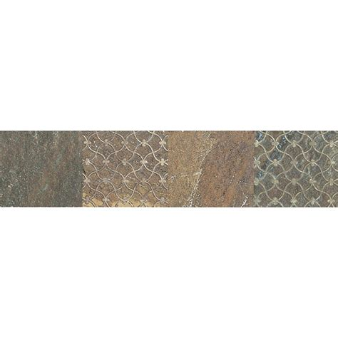 daltile ayers rock rustic remnant 3 in x 13 in glazed porcelain decorative accent floor and