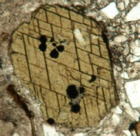 cleavage in thin section hornblende