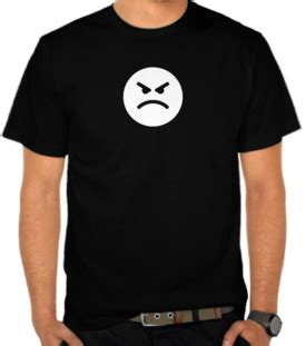 Kaos Angry jual kaos flat angry emoticon emoticon satubaju
