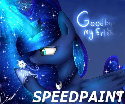my friend princess speed paint mlp goodbye snowdrop goodbye my friend