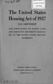 united states housing act of 1937, as amended : federal