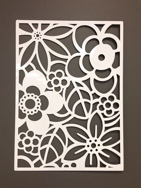 flower design on wall for the back patio wall abstract flower metal wall or