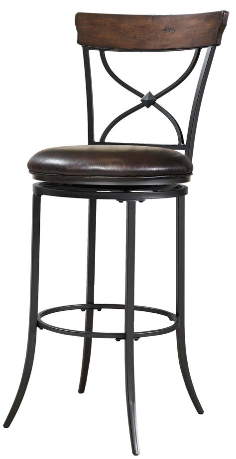 bar stools with backs and swivel cameron swivel x back bar stool