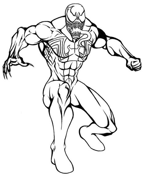 Venom Coloring Pages Printable | spiderman vs venom coloring pages coloring home