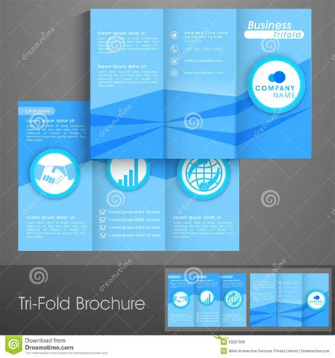 professional handout template professional trifold brochure template or flyer for business