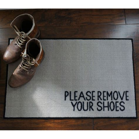Remove Your Shoes Mat by Remove Your Shoes Message Doormat